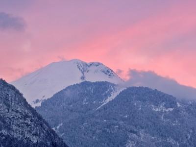 Le Môle, un soir d'hiver après les récentes chutes de neiges