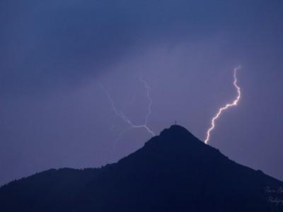 Pic du Marcelly sous l'orage